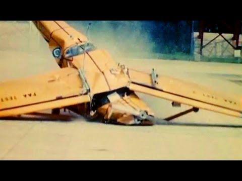 Crash Tests of High-Wing Single Engine Airplanes circa 1970 NASA Langley...