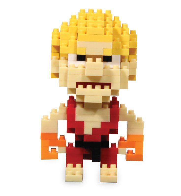 Street Fighter Ken Pixel Bricks  Manufacturer: Paladone Products Ltd. Enarxis Code: 015592 #toys #Street_Fighter #Ken #videogames #bricks