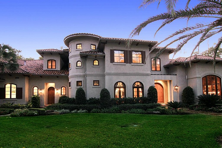 Andy abercrombie exterior is stucco and cast stone with for Mediterranean stucco