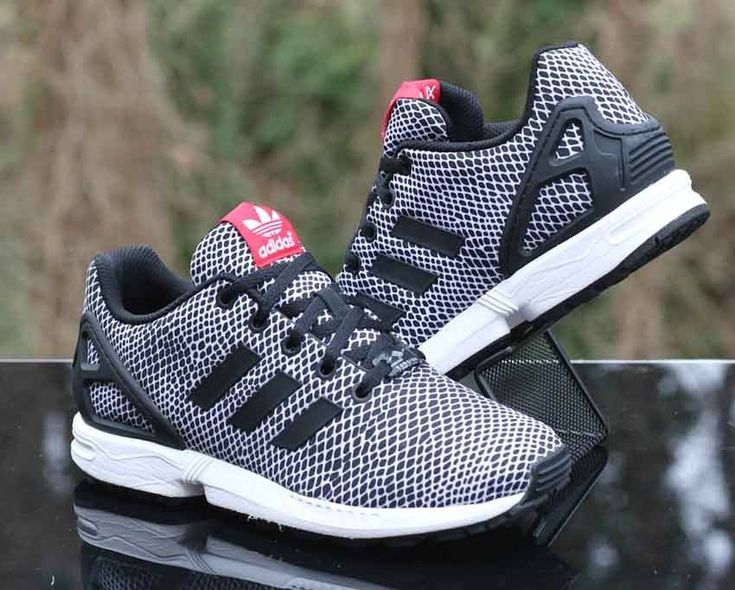 Adidas Torsion ZX Flux GS Snakeskin Black White S82615 Kids Size 5 #adidas #runningshoes