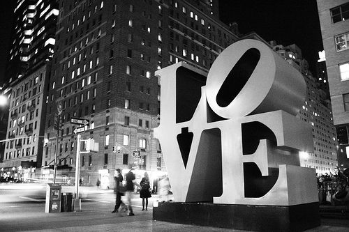 Love, Midtown, New York City, NY by Thomas R. Stegelmann, via Flickr