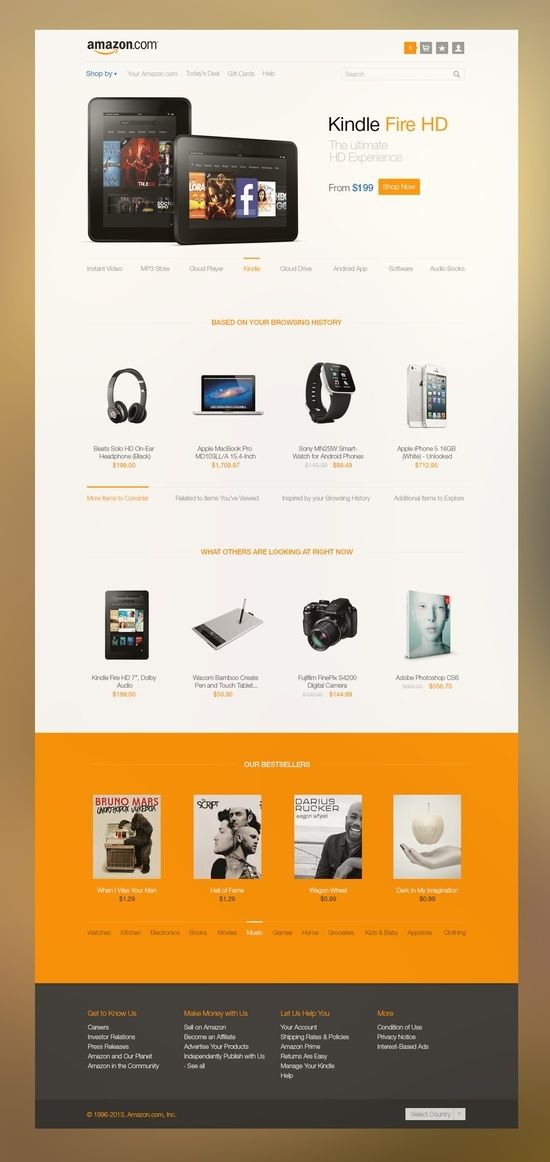 Amazon concept: simple, clean and focused #web #webdesign #website #design #inspiration