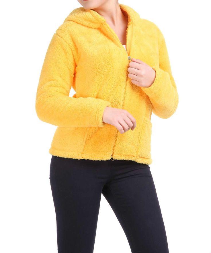 Sarı Peluş Sweat