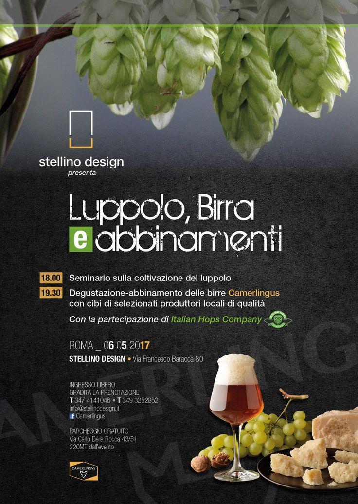 A Roma il 6 Maggio, Luppolo, Birra e Abbinamenti - Le Strade della Birra, il magazine sul mondo della birra artigianale in Italia