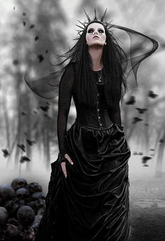 O death long black dress zombie