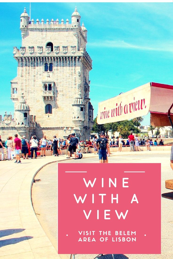 Wouldn't it be great to have your #wine on the water with a view of #Lisbon #Portugal iconic sights?