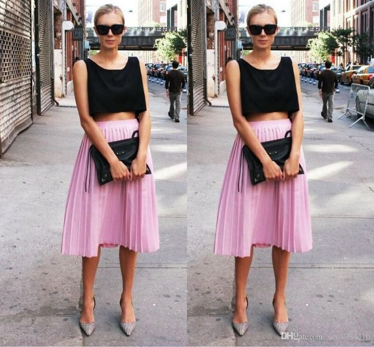 Pleated Chiffon Skirt | Dresscab