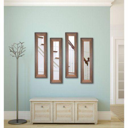 Rayne Timber Estate Mirror Panel, Set of 4, Brown
