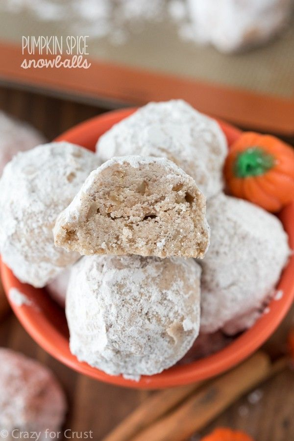 These Pumpkin Spice Snowball Cookies are a family favorite recipe! An easy Russian Teacake recipe is filled with warm pumpkin spice, perfect for fall.