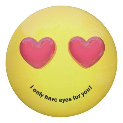 #Emoji Emoticon with Heart Eyes - Round Eraser - #emoji #emojis #smiley #smilies