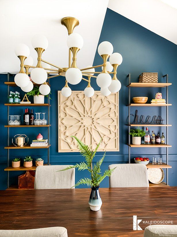 our navy blue eclectic dining room reveal living room and dining rh pinterest com