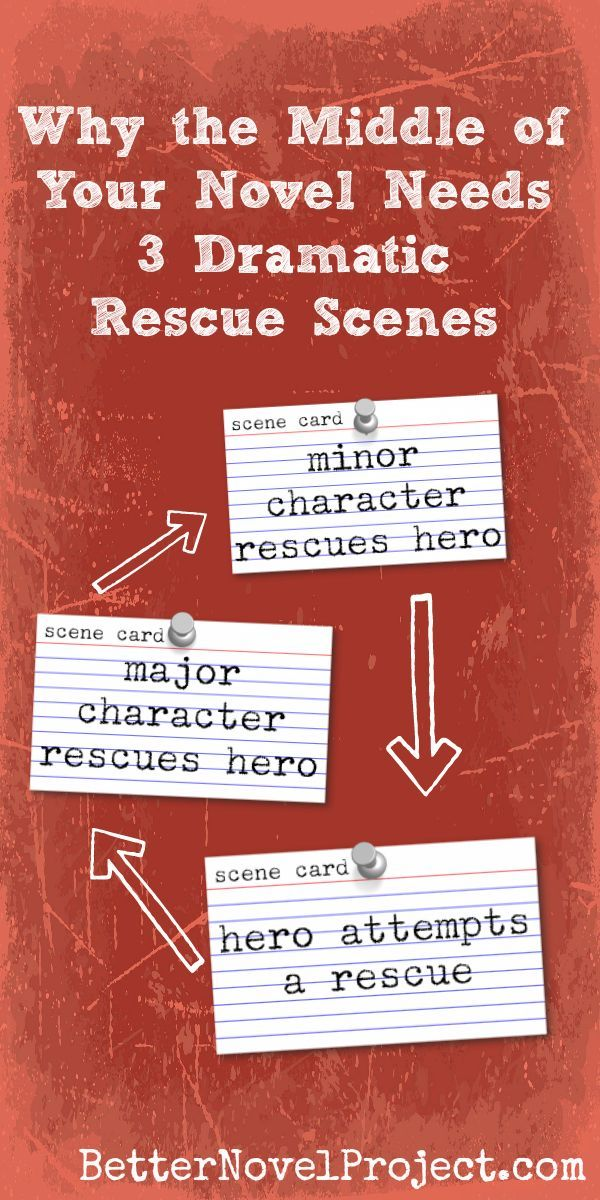 Why the middle of your novel needs 3 dramatic rescue scenes.