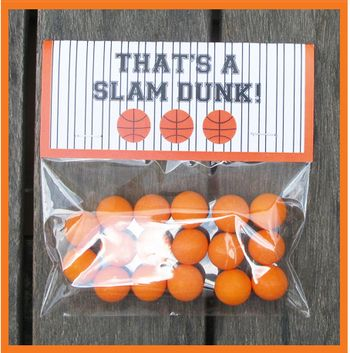 Gumball Basketball Favor