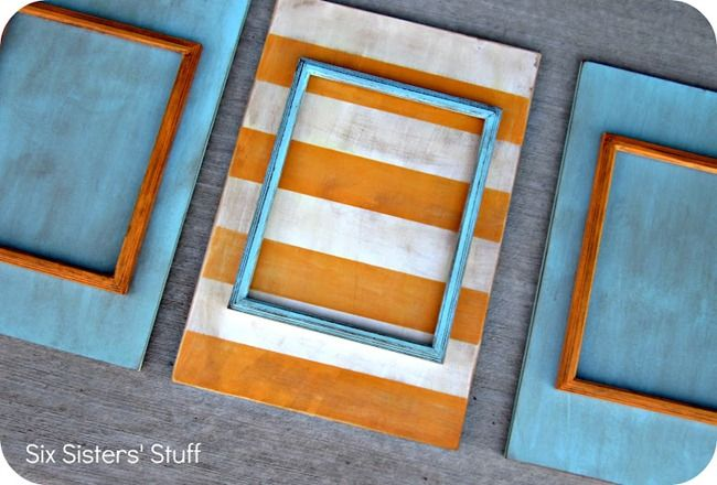 fun stacked frames- DIY: Diy Frame, Frames Tutorial, Tutorials, Craft, Stacked Frames, Picture Frames, Six Sisters Stuff, Diy Stacked, Diy Projects
