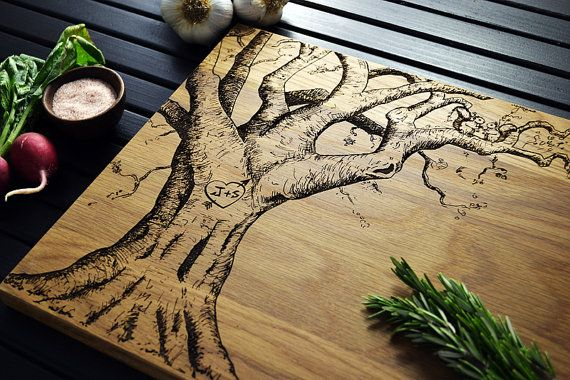 Personalized Cutting Board  Carved Heart by ElysiumWoodworks, $55.00