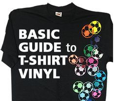 Learn the basics about using T-shirt vinyl or heat transfer film. You can decorate garments with a heat press and a vinyl cutter..