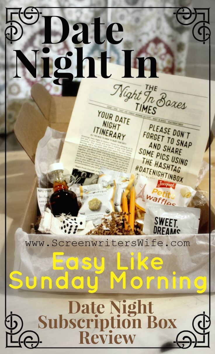 april 2018 date night in box review easy like sunday morning rh pinterest com