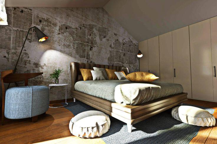 Modellazione di interni Soggiorno camera da letto (di AAA Architettura e Design)