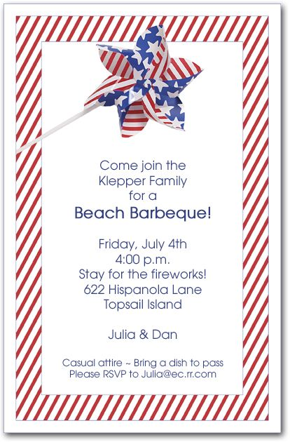Patriotic Party Invitations - 4th of July Invitations