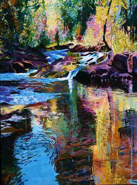 """Artist Ellen Dittebrandt; Painting, """"Lower Pools """""""