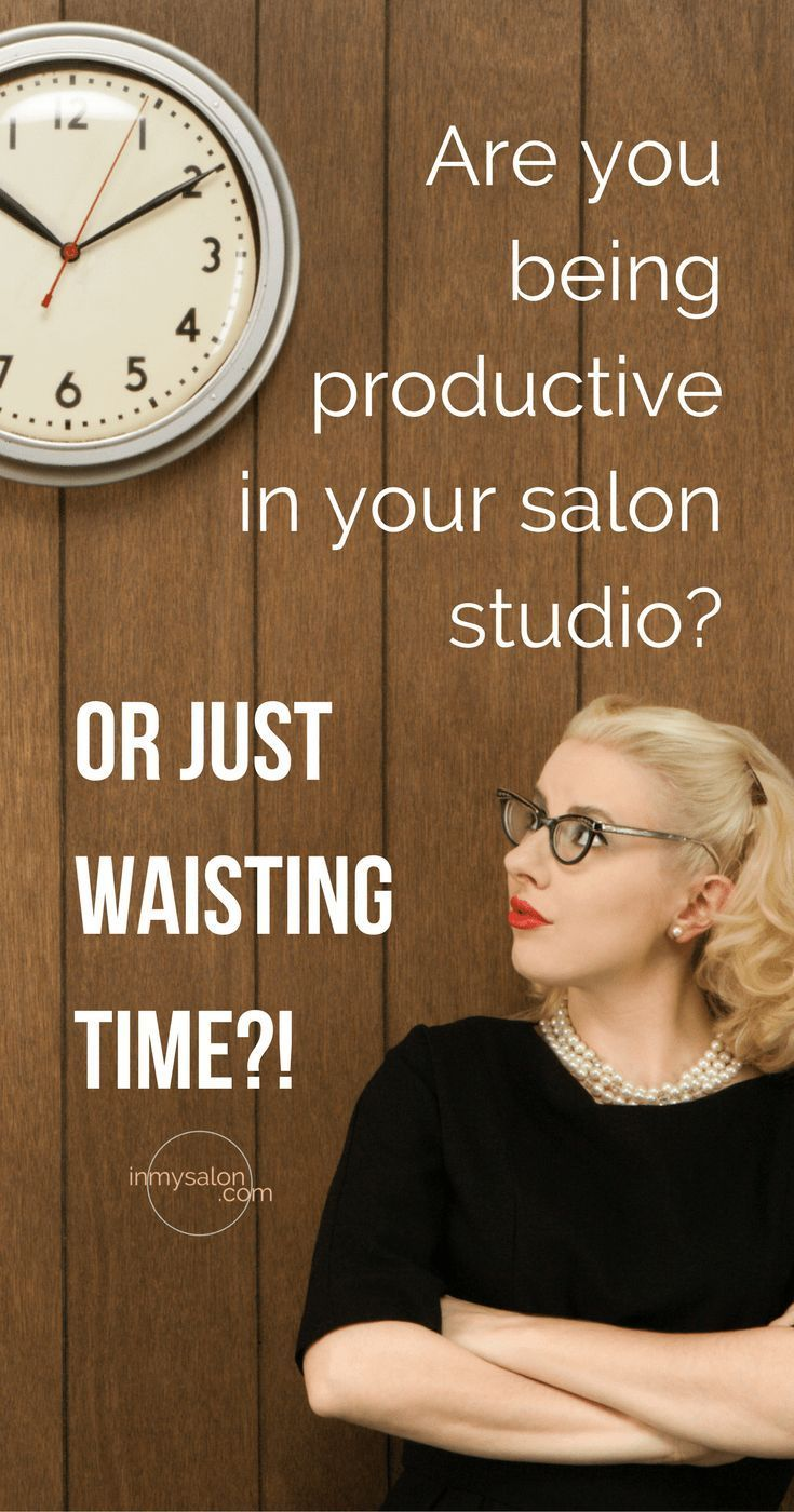Are you busy doing the type of tasks in your salon studio that are going to be moving you in a forward direction or simply waisting time? This is the difference between being busy and being productive! #inmysalon #salonowner #salonbusiness
