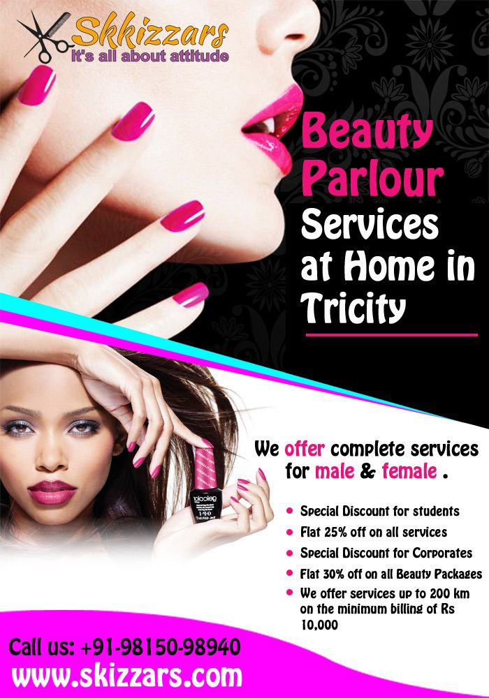 Get all #BeautyParlourService at Home in Tricity, and also
