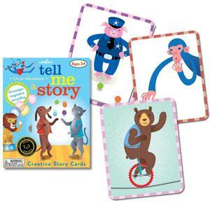 Carte e giochi da tavolo per inventare fiabe, favole e racconti - Tell Me a Story - Circus Animal Adventure - eeBoo