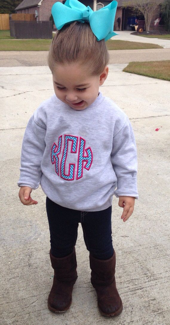 This is my future daughter. I mean look at that bow!! The monogram!! The uggs!