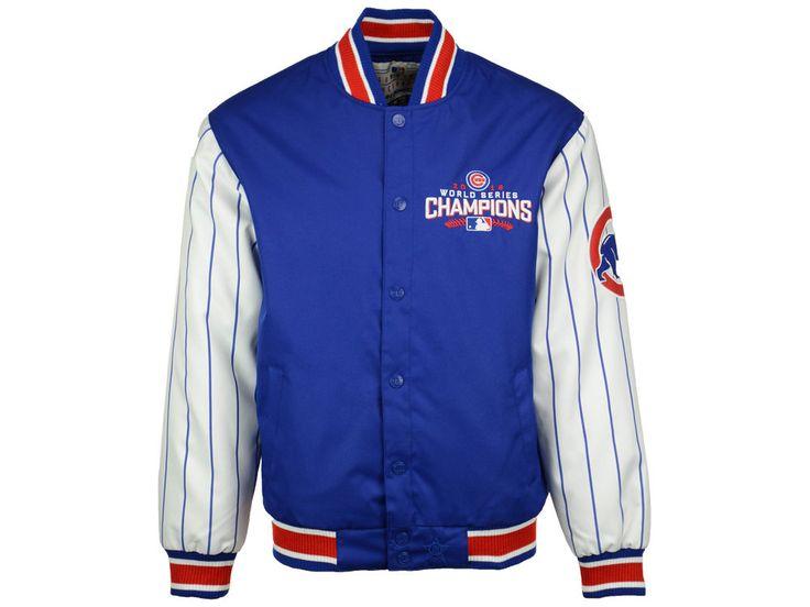 Chicago Cubs MLB Men's 2016 World Series Champ Pinstripe Jacket