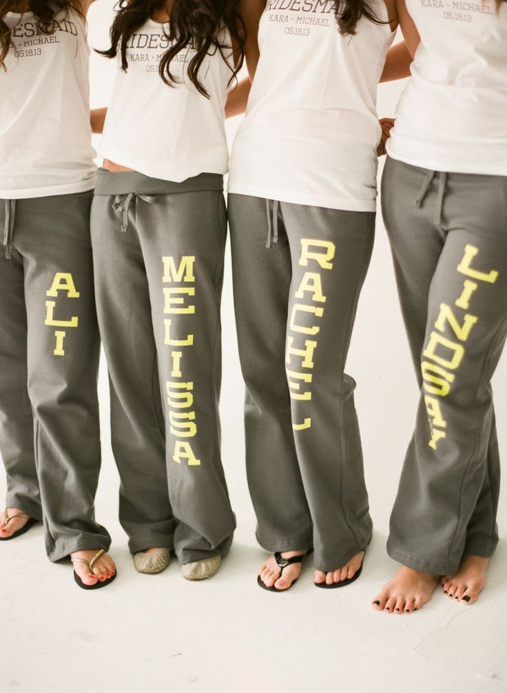 We need matching sweats with our names on them!!!