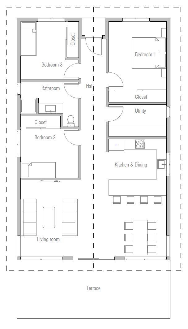 37 best Plans de maisons images on Pinterest Arquitetura, 3d house - plan maison en l 100m2