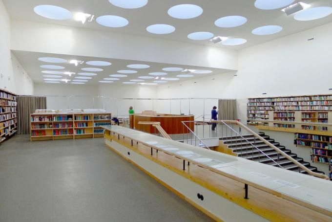 Lending Hall, 2013. Image Courtesy of The Finnish Committee for the Restoration of Viipuri Library. Click above to see larger image.