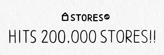 STORES.jp HITS 200,000 STORES