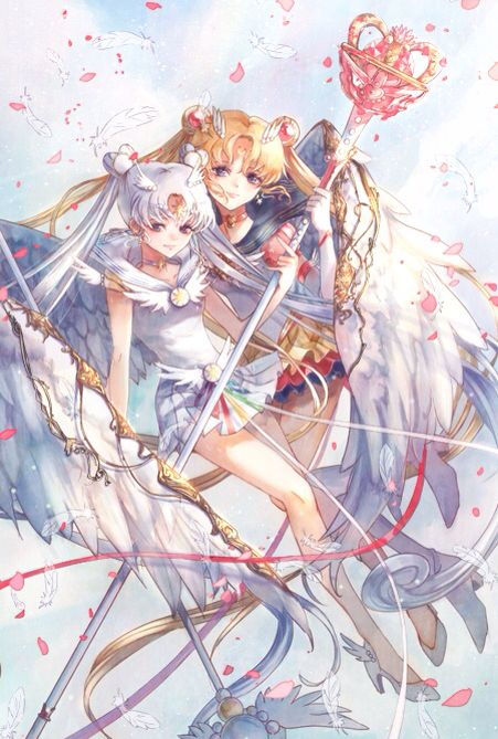 Sailor Moon and Sailor Cosmos