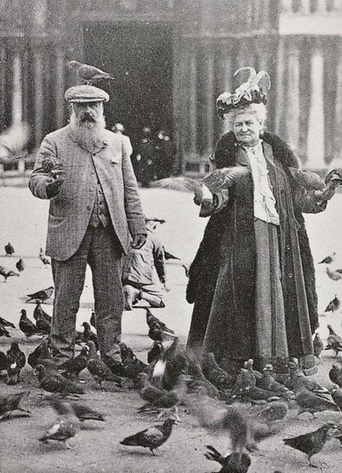 Monsieur & Madame Monet enjoy the Birds in Venice, 1908.