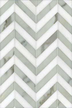 Chevron tile.