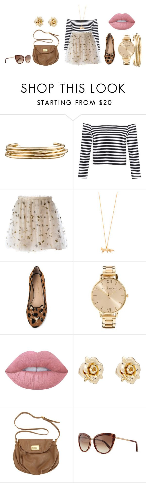 """""""🍩"""" by lena1612 ❤ liked on Polyvore featuring Jennifer Fisher, Valentino, Alex Monroe, Charlotte Olympia, Olivia Burton, Lime Crime, Marc by Marc Jacobs and Kate Spade"""