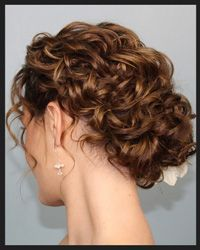 Curly updo... so cute! I NEED my hair to look like this!