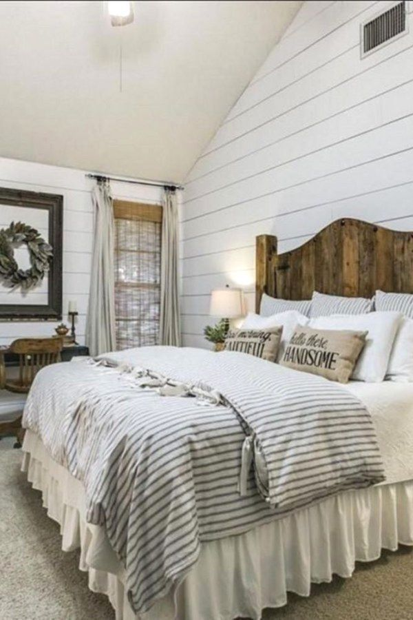 Unique Modern Farmhouse Bedroom Bedding Interior Design Industrial Decorating Ideas And Tips In 2020 Rustic Master Bedroom Home Decor Bedroom Rustic Farmhouse Bedroom
