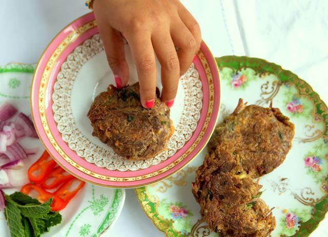 Bavette Shami Kebabs with black cardamom, black cumin and cinnamon