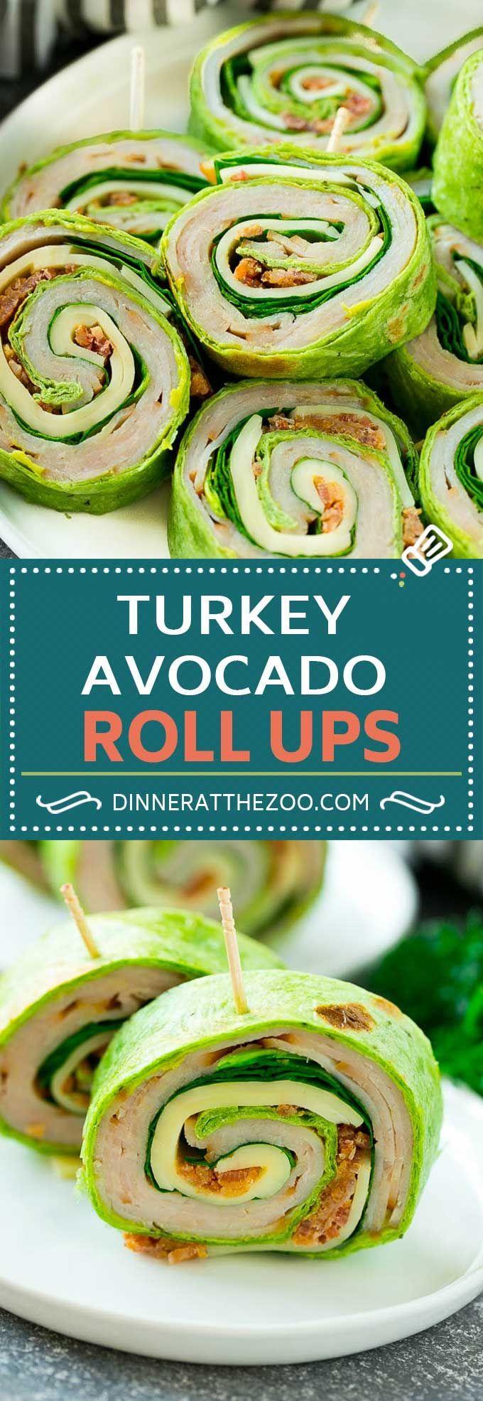 Turkey Roll Ups Recipe | Turkey Pinwheel Sandwiches | Turkey Roller Sandwiches