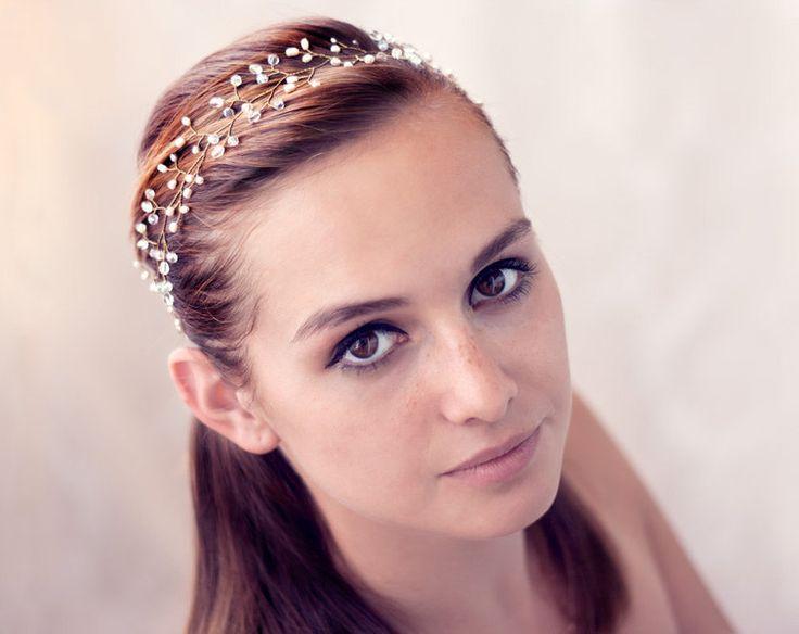 Haarschmuck & Kopfputz - Hochzeit Kopfstück, Crown Royal, Perlenstirnband - ein Designerstück von Arsiart bei DaWanda