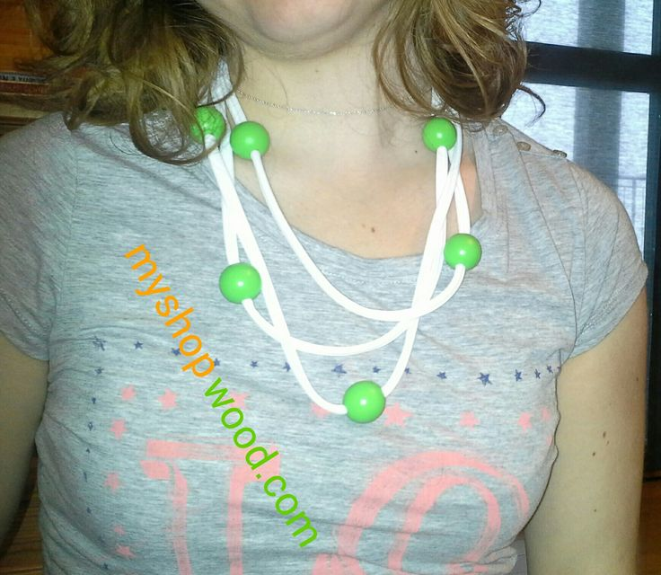 #girocollo #girocolloperle #collana #perle #collanadesign #bracciale #fashionable #legno #moda #idee2014 #