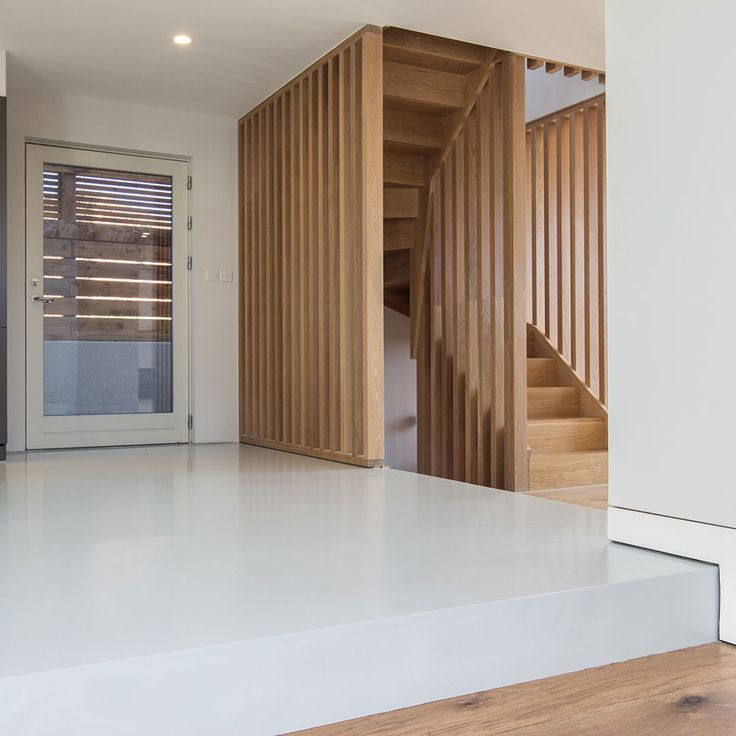 Installation Date: 18th August 2014 Location: Blackheath Flooring Type: Grey Resin (RAL 7035)  This beautiful designer home opted for the installation of a seamless poured resin floor. Working closely with the architects and designers throughout we engineered a selection of seamless steps and levels within the property to assist in the enhancement of the contemporary