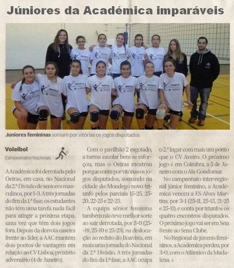 My team in the newspaper! Volleyball