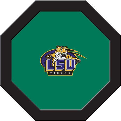 University of LSU Round Game Table Felt Cloth Green