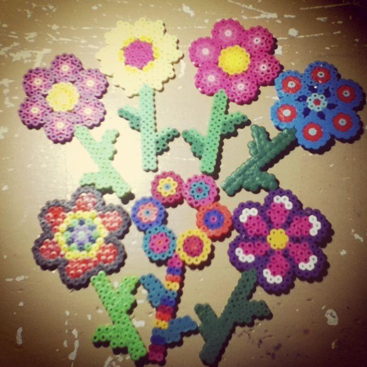 flowers perler by tiara cunningham perler
