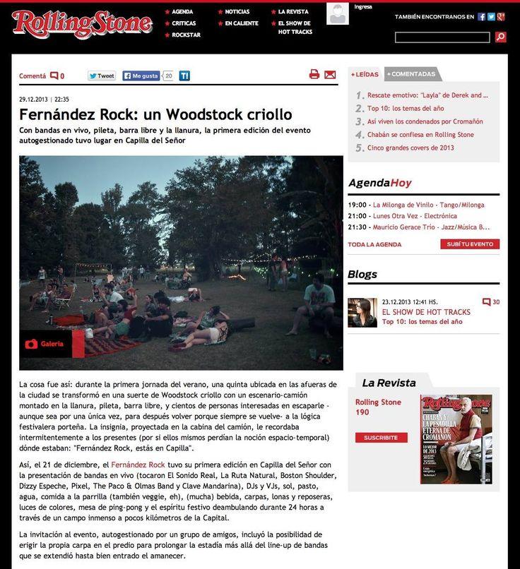 Fernandez Rock @ Rolling Stone http://www.rollingstone.com.ar/1651727-fernandez-rock-un-woodstock-criollo #rollingstone #fernandezrock #festival #musicfestival #woodstock #outdoor #party