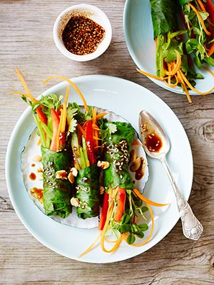 Thai-Style Veggie Rolls From Lorna Jane's New Fit-Woman Cookbook