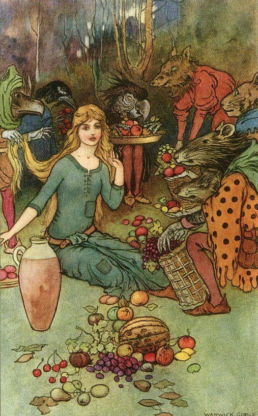 Goblin Market - illustration by Warwick Goble